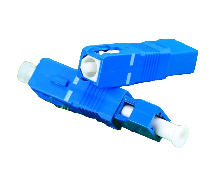 Image 2 - QIALAN LC Female to SC Male Simplex Singlemode Fiber Optic Adapter-in Fiber Optic Equipments from Cellphones & Telecommunications