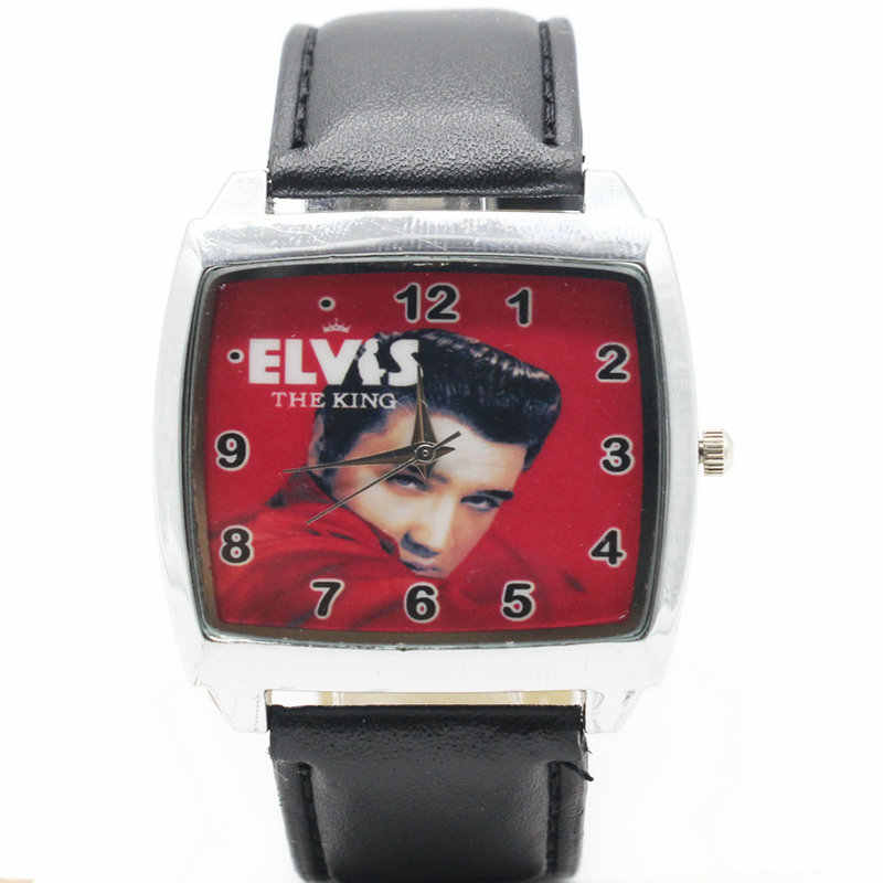 Watches Quartz Wristwatches 2017 New Fashion style Boys and girls Elvis Presley watch strap watch gift