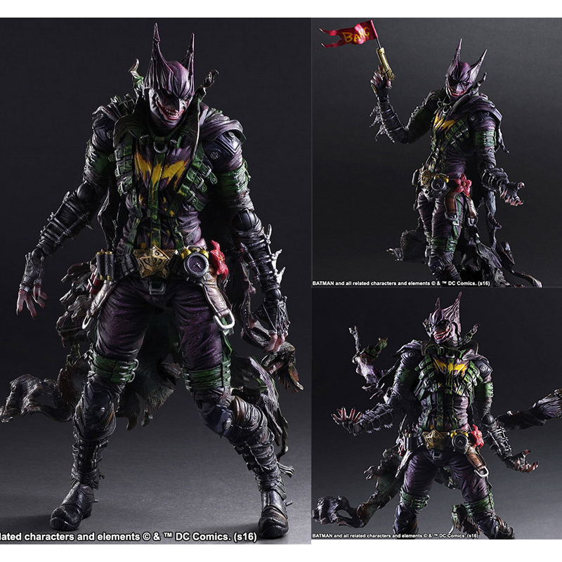 DC COMICS VARIANT PLAY ARTS KAI BATMAN Rogues Gallery The Joker Action Figure Toy 26cm цены