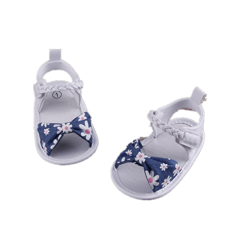 Summer Baby Girl Bowknot Sandals Anti-Slip Crib Shoes Soft Sole Prewalkers USA