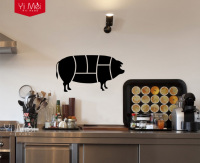 Piggy Pig Pork Chop Butcher Wallpaper Decal Wall Sticker for Kitchen or Dining Room Chalkboard Sticker 45cmX80cm Free Shipping