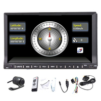 Rear Camera+Double 2 Din Car Radio stereo bluetooth Car PC AUDIO GPS Navigation DVD CD Video Player touchscreen+ USB/SD