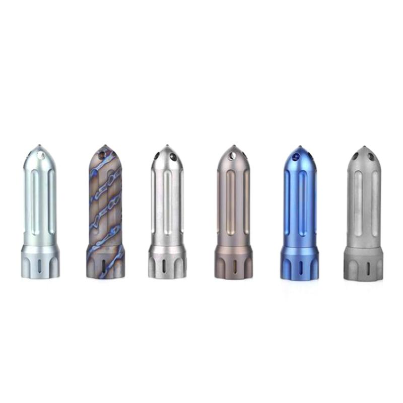 New Titanium Alloy Rocket Waterproof Tritium Gas Light Storehouse Broken Window Bottle EDC Outdoor Multi function