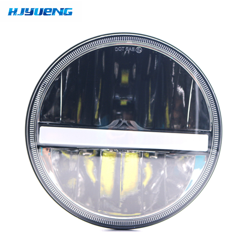 New 36w for Land Rover Defender 90 110 7Inch Black LED Headlight With White DRL Amber Turn Signal Projector Headlamp in Car Light Assembly from Automobiles Motorcycles