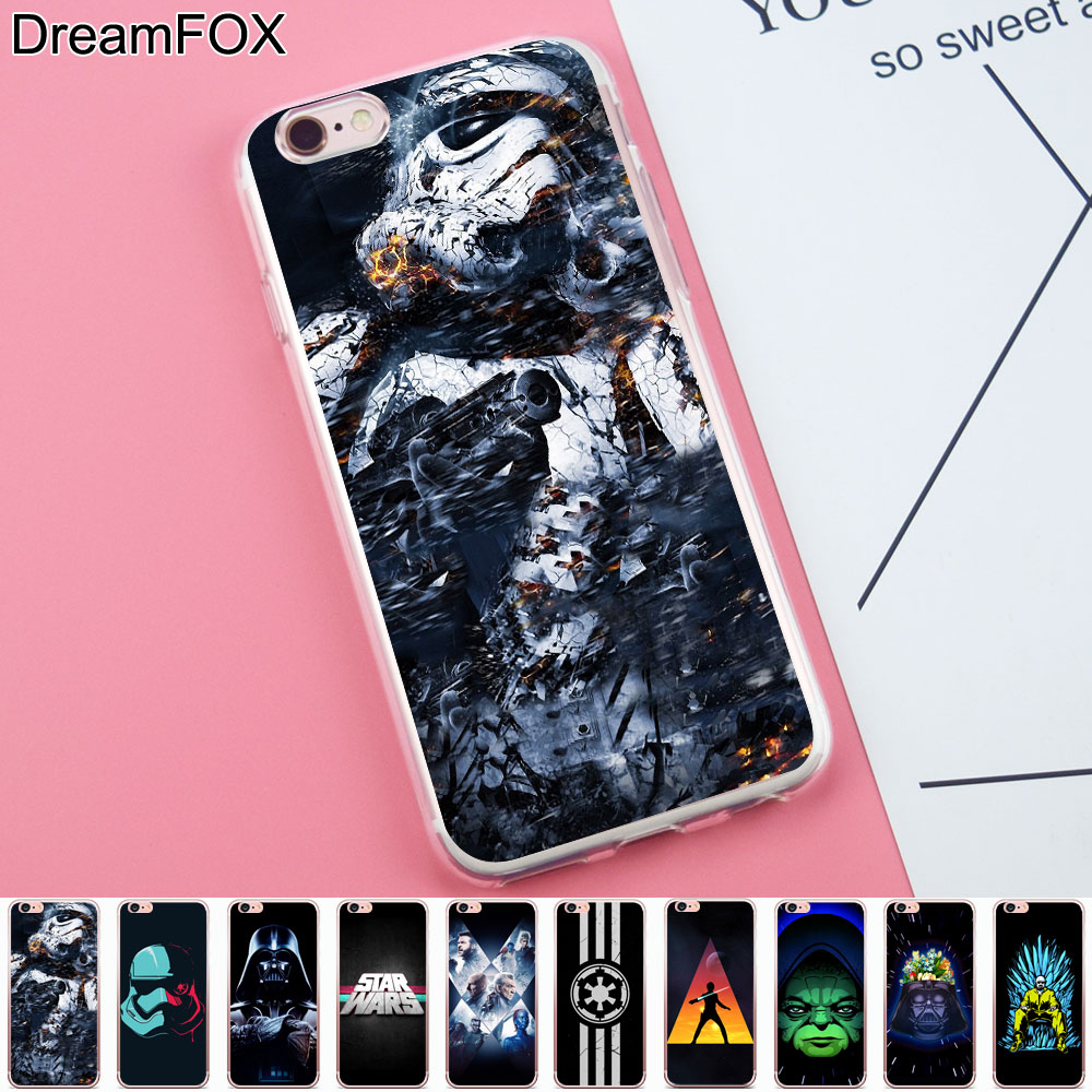 DREAMFOX K211 Star Wars Game Of Han Soft TPU Silicone Case Cover For Apple iPhone 8 X 7 6 6S Plus 5 5S SE 5C 4 4S