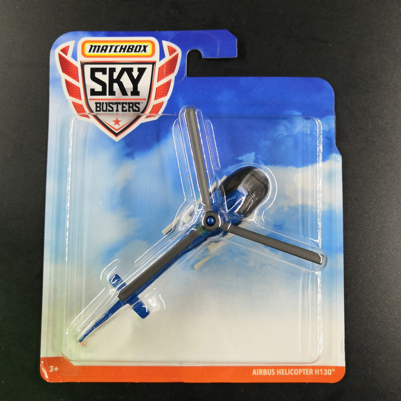 2019 Matchbox Plan SKY BUSTERS AIRBUS HELICOPTER H130 Metal Material Body Race Plan Collection Alloy Plan Simulation Model