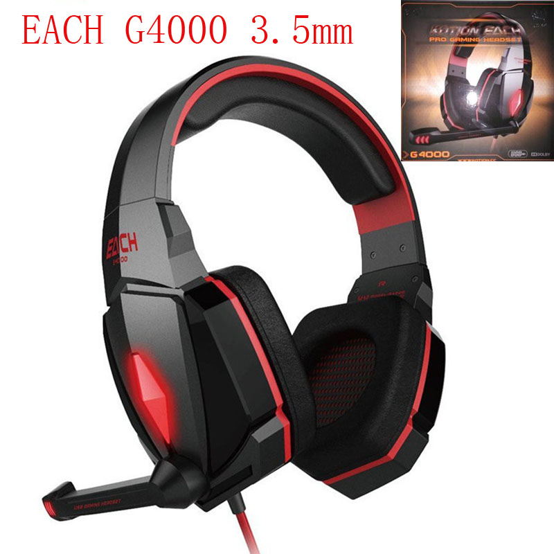 EACH G4000 Gaming Headset Over-ear Hifi Headphone auriculares Stereo Earphones fone de ouvido With Microhpne For PC Gamer casque each g1100 shake e sports gaming mic led light headset headphone casque with 7 1 heavy bass surround sound for pc gamer