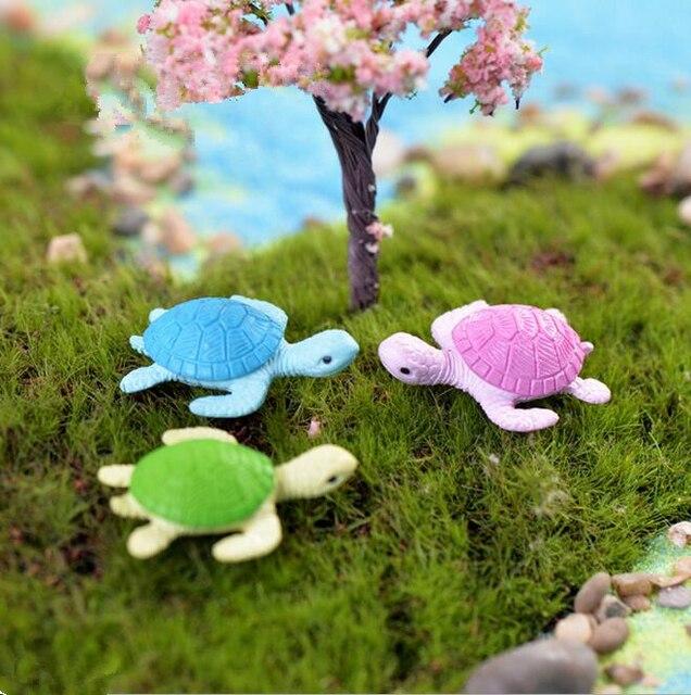 Beautiful Free Shipping Turtle PVC Fairy Garden/moss Terrarium Resin Micro Landscape  Decoration/fish Tank
