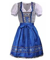 plus size 4XL Women's Traditional Dirndl Serving Wench Bavarian Beer Girl Oktoberfest Adult Costume Bodycon Dress