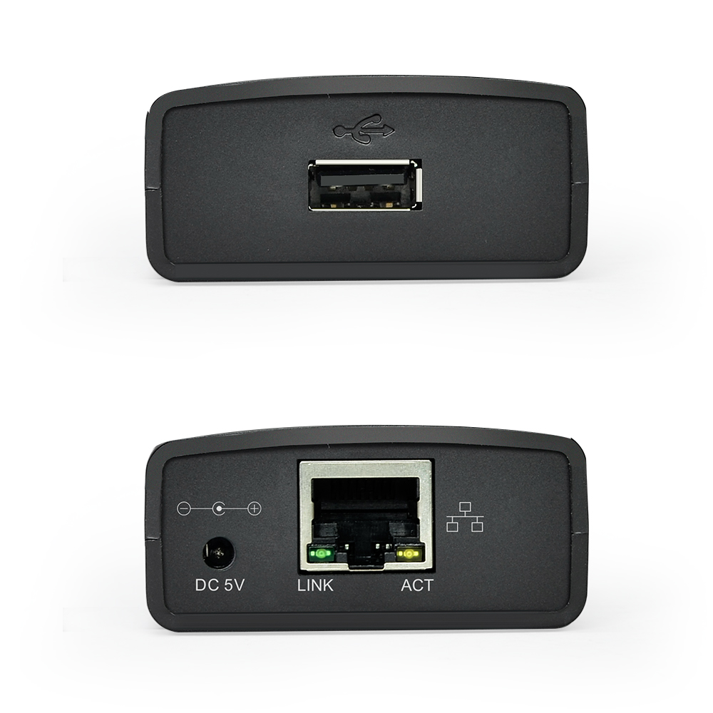 Image 2 - USB 2.0 LRP Print Server Share a LAN Ethernet Networking Printers Power Adapter USB HUB 100Mbps Network Print Server-in Print Servers from Computer & Office