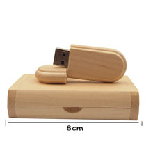 Maple Wood Pendrive With Box
