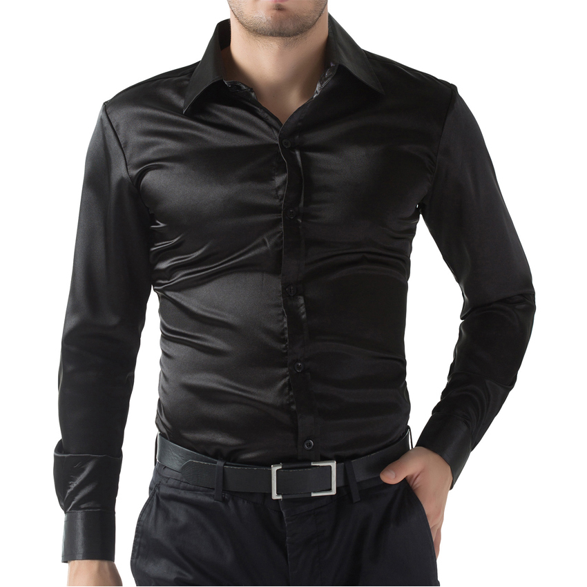 Top Quality Silk Single Breasted Business Casual Mens Shirts ...