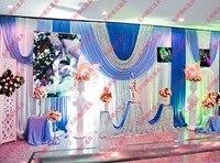 Свадебные декораций украшения романтический фуксия и белые свадебные занавес с гирлянды пайетки
