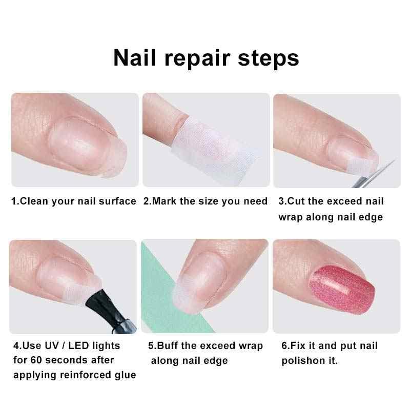 ... BUKAK 1pcs Fiberglass Nail Wrap Strong Nail Protector for UV Gel Acrylic Nails Self Adhesive Silk ...