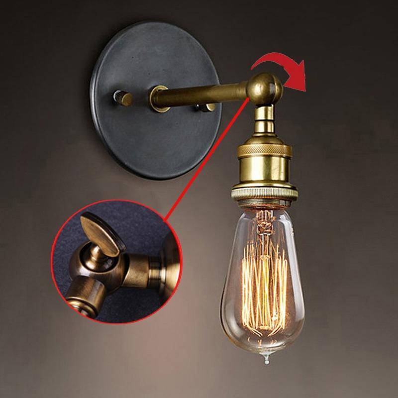 LumiParty настенный светильник Винтаж лофт настенные свет E27 Edison ЛАМПЫ покрытием гладить Ретро промышленные домой освещение ночники