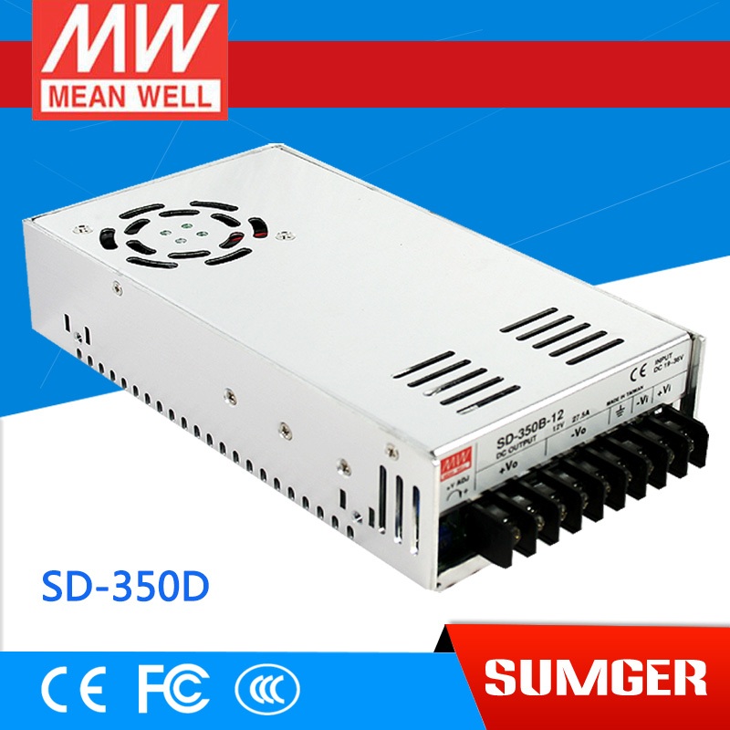 1MEAN WELL original SD-350D-12 12V 29.2A meanwell SD-350 12V 350.4W Single Output DC-DC Converter [powernex] mean well original sd 500l 12 12v 40a meanwell sd 500 12v 480w single output dc dc converter