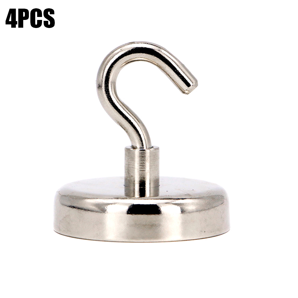 4pcs Magnetic Hooks Powerful Heavy Duty Neodymium Magnet Refrigerator Surfaces Not Scratch DC156