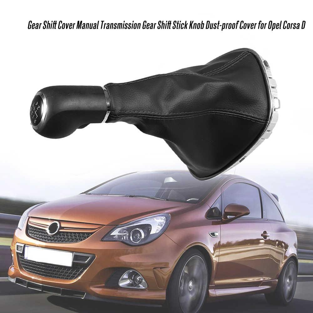 Pu deri Toz geçirmez 5 Hız Vites Topuzu Manuel Shifter Gaitor bot kılıfı Opel Corsa D için araba styling otomatik ürün