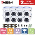 "Tmezon 8*1200TVL  1/3""IR Cut  CCTV Security Camera  Infrared Dome  Day Night Vision Outdoor"