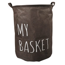 Dirty Clothes Laundry Basket Pouch Linen Cotton Washing Hamper Home Bag Housekeeping Use Bags Folding Toy Storage(China)