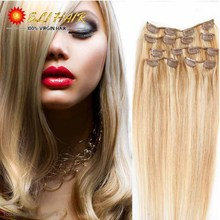 Brazilian Straight Hair Grade 7A 100% Remy Clip In Human Hair Extensions Brazilian Virgin Hair Clip In Extension Straight