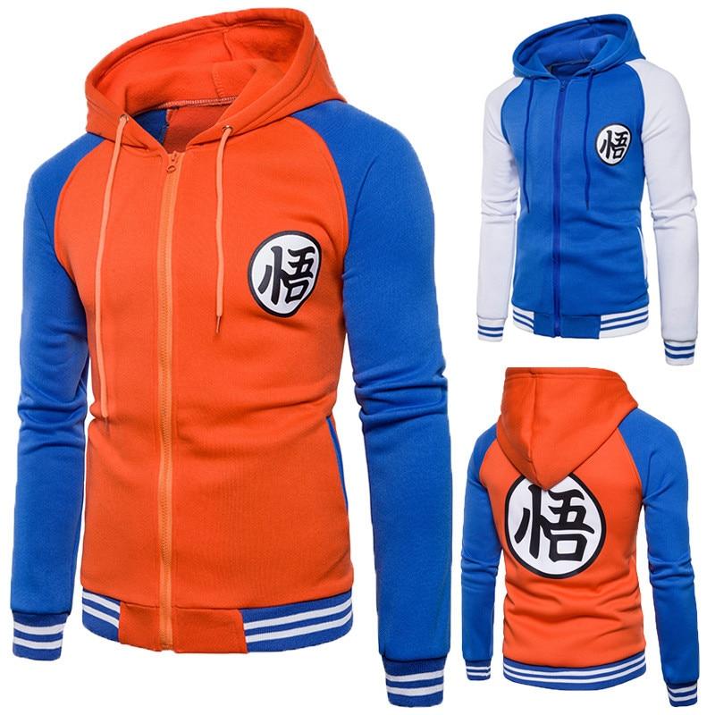 Anime Dragonball Z Wu Goku Clothing Hooded Sweatshirt Costume Cosplay Hoodie