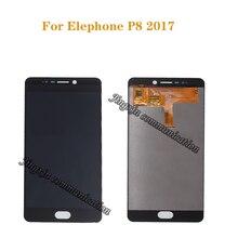 شاشة LCD جديدة لـ elephone P8 2017 LCD + محول الأرقام بشاشة تعمل بلمس استبدال مكون لشاشة Elephone P8 2017