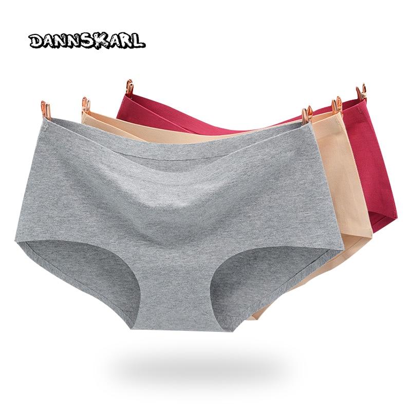98cbee5d3 El nuevo proceso Intimates algodón mujeres Bragas no traza ropa interior  sin costuras MS en la cintura sexy briefs algodón natural