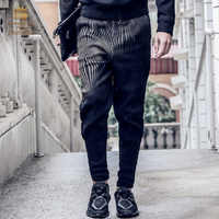 Fanzhuan free shipping new fashion men's casual spring 2017 trend Haren male waist slim pleated trousers 711004 pants black