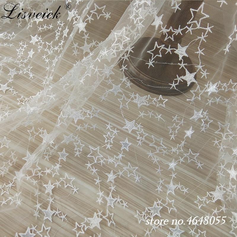R18 Black Polka Print White Net//Mesh Fabric by Yard
