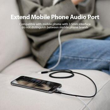 Vention Jack 3.5 Aux Extension Cable for Car Laptop Mini PC TV Xiaomi Huawei Stereo 3.5 mm Jack Headphone Speaker Cable Auxiliar 4
