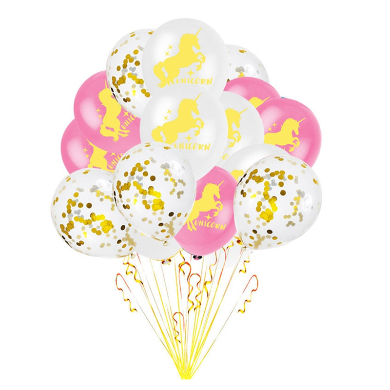 15 Pcs /Set 12 Inch Confetti Balls Gold Glitter Clear Balls Party Kids Favors Gifts Supplies