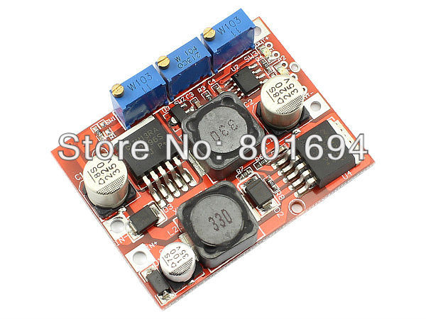 <font><b>10</b></font> Pcs/Lot DC Auto Step-up Step-down adjustable Boost Buck Converter power supply module 4-35V to 1.25-25V 3A 15W <font><b>LM2596</b></font> LM2577 image