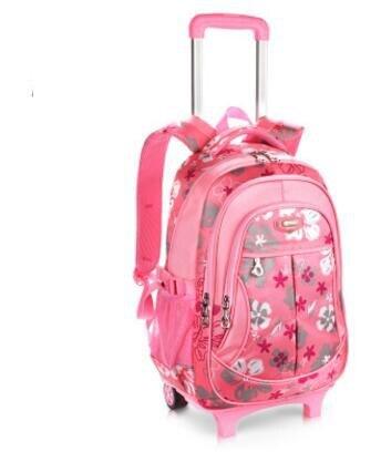 Szkoły toczenia plecaki dla dziewcząt plecak na kółkach wózek plecaki szkolne dla dzieci torba na bagaż koła dla dzieci wózek plecak w Torby szkolne od Bagaże i torby na  Grupa 2