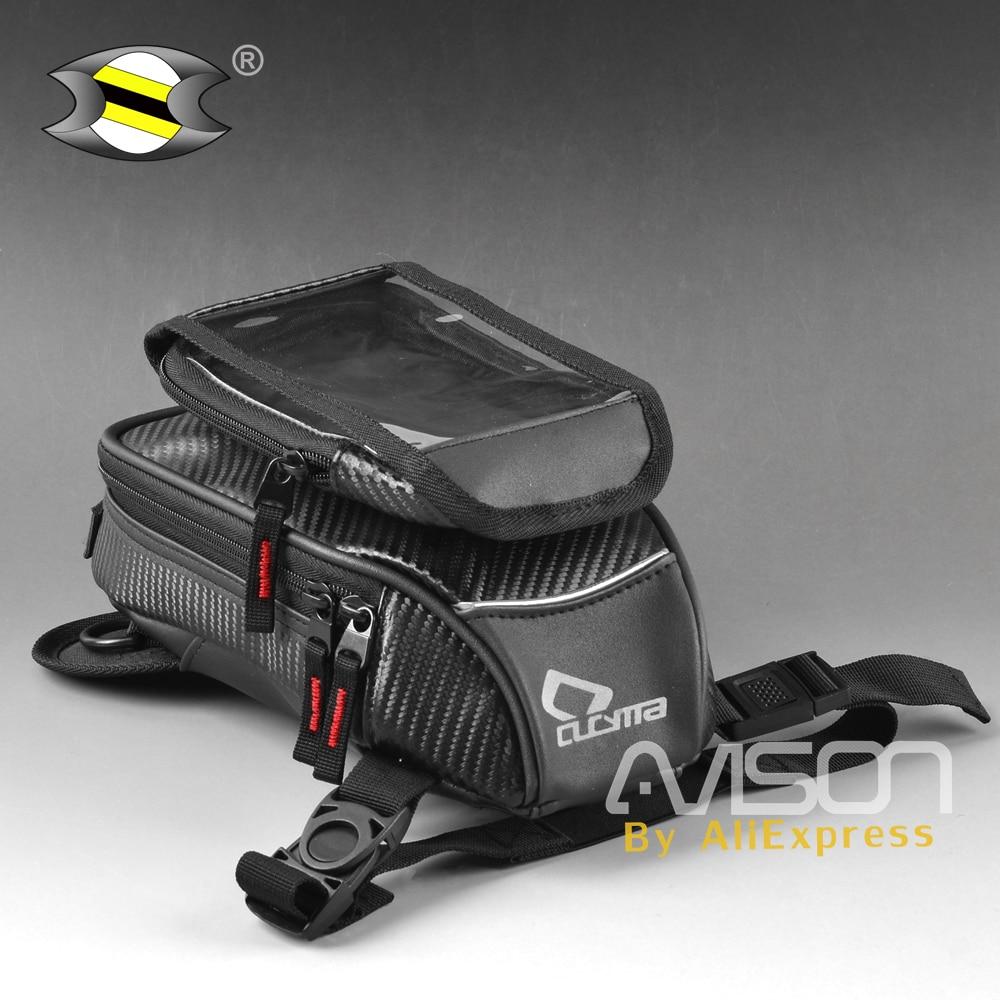 все цены на Motorcycle Oil Tank Bag Leg Bag GPS Navigation Mobile Phone Universal Motorbike Multi-purpose Waterproof Magnet Fixed In Moto онлайн