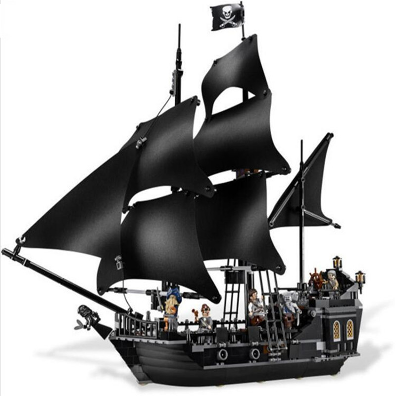 804pcs Diy Pirates of the Caribbean Black Pearl Dead Ship Model Blocks Compatible With L Brand Bricks Toys Gift For Children kazi 87010 the black pearl ship bricks set sale pirates of the caribbean building blocks toys for children hobby free shipping