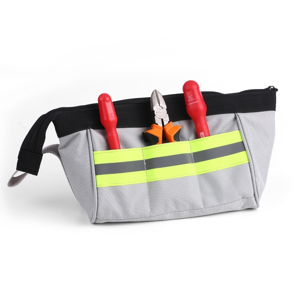 Storage Tool Bag Pouch Organizer Oxford Canvas Zipper Bags Wearable & Waterproof For Electrician Toolkit Accessories Small Tools