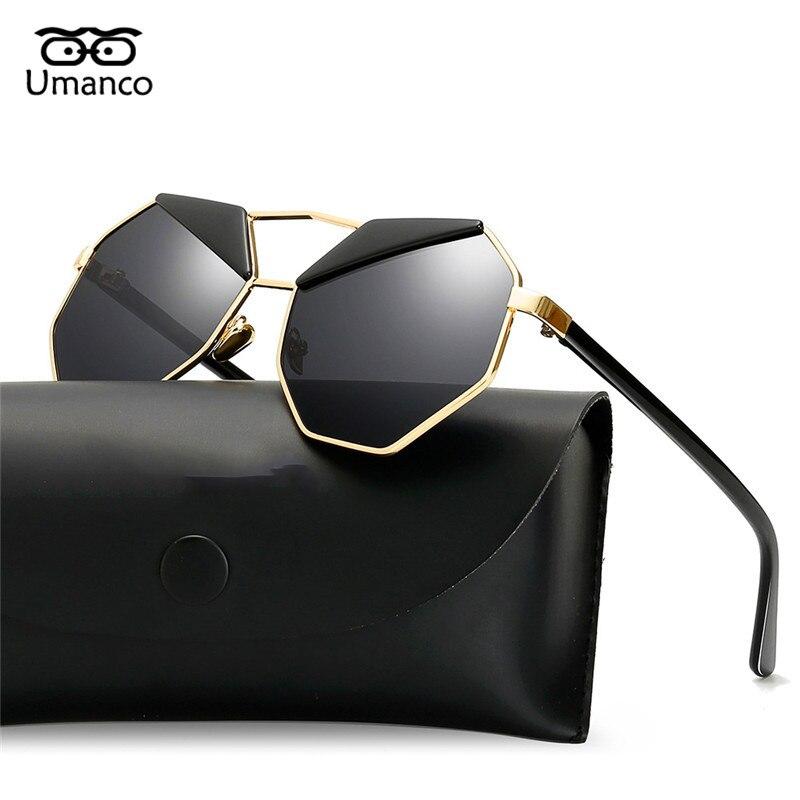 cc0031f2786d0 Umanco Poligonal Sobrancelhas Óculos De Sol Dos Homens Do Metal Do Vintage  Mulheres Dazzling Gradiente Óculos