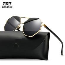 ecb68e562 Umanco الحاجبين نظارات الرجال النساء خمر معدن مضلعة الإبهار التدرج نظارات  القيادة نظارات فريد طيار نظارات