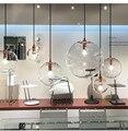 Промышленные стеклянные шаровые подвесные светильники  скандинавские подвесные светильники  Led домашний декор  подвесные светильники для ...