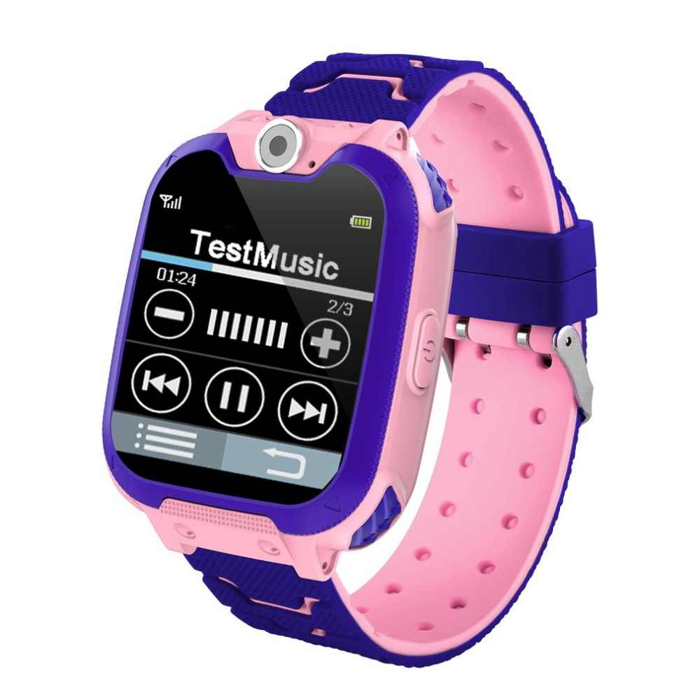 S6 الأطفال متعددة الوظائف ذكي ووتش لعبة الموسيقى عرض Smartwatch اطفال ديكور هدية اللمس شاشة SOS الطفل آمنة