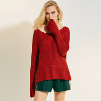 Sisjuly Women Knitted Sweaters And Pullovers 2017 Solid Causal Loose Flare Sleeve Oversize Outwear Autumn Winter