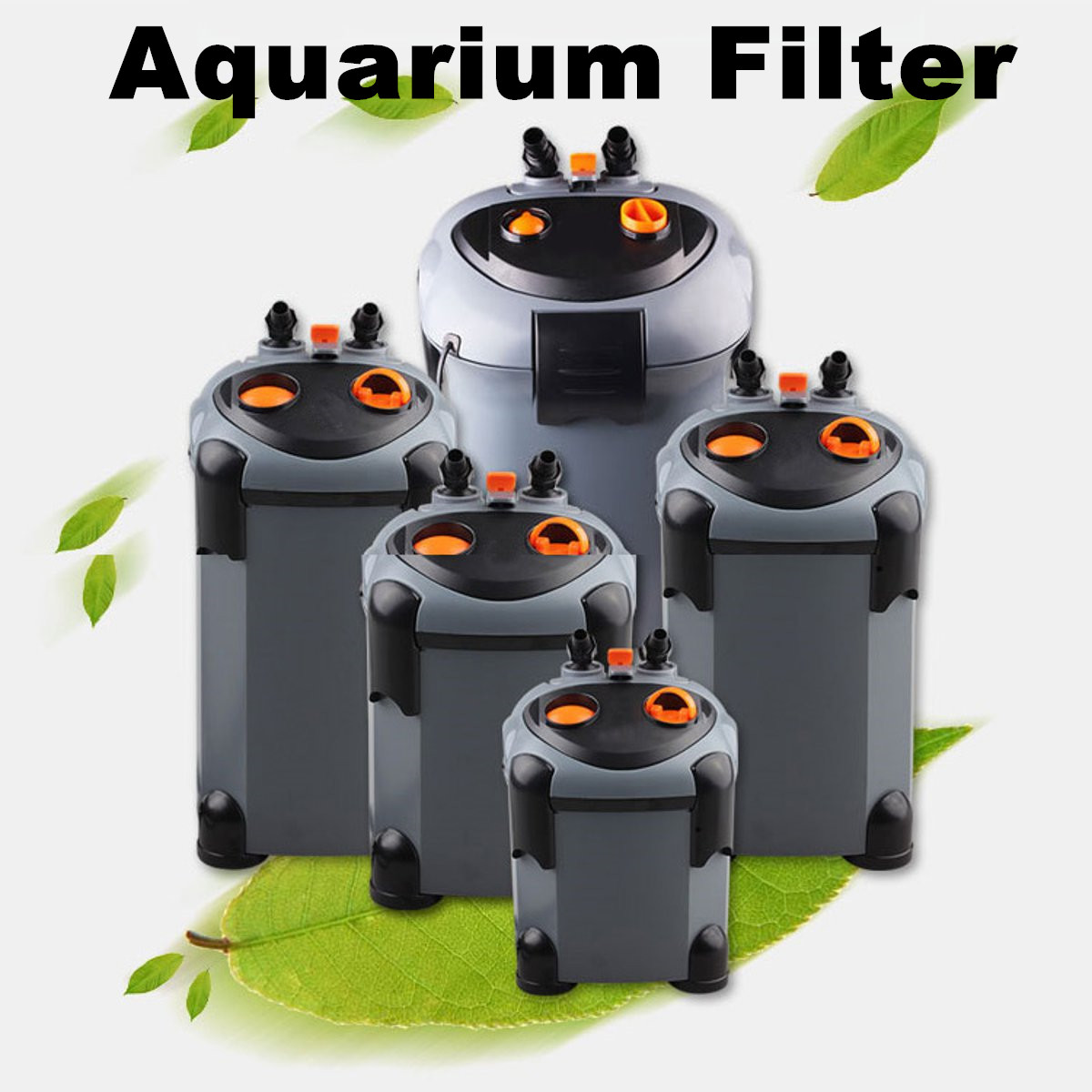 Aquarium External Water Filter Fish Tank Booster Canister Sponge Filtration Aquarium Pond Filtration System Filtering Barrel