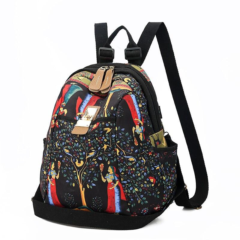 2019 New Women Emoji Shoulder Bag Best Travel Women Backpack Female Printing Waterproof School Knapsack mochila Bagpack Pack 2