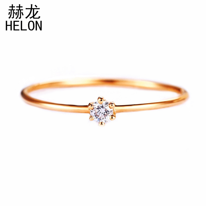 0.06CT SI/H Natural Diamonds Ring Solid 14k Rose Gold Engagement Ring Classic Trendy Women Hot Selling Present Customize Party