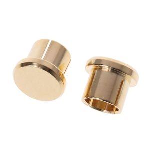 Image 3 - Enchufe para circuito corto chapado en oro, 10 Uds., conector fono RCA, conector de protección, tapas protectoras