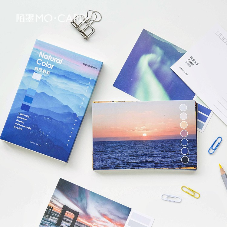 30 sheets/LOT Creative Natural Color Series Postcard /Greeting Card/Wish Card/Christmas and New Year gifts 30pcs in one postcard chinese poet haizi poetry anthology christmas postcards greeting birthday message cards 10 2x14 2cm
