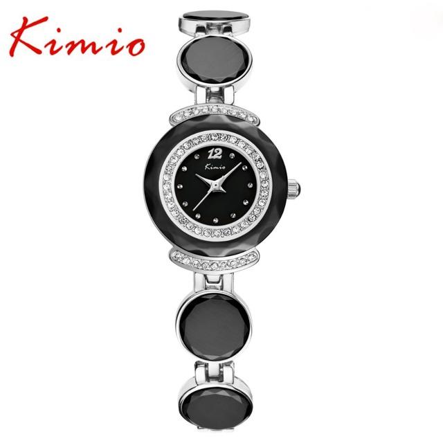 Kimio marca de topo relógios de pulso das mulheres de diamante pulseira relógios de quartzo relógios das mulheres relógios à prova d' água