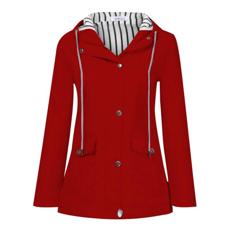Rain Coat Women Plus Size Coat 2018 Long Sleeve Waterproof Jacket Hooded Raincoat Jacket Women Clothes Warm Coat Girl #O11 (36)