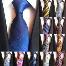 67 Colors New Silk Tie for Man Jacquard 8cm Fashion Floral Flower Pasiley Business Wedding Party Necktie Cravat Gift Him